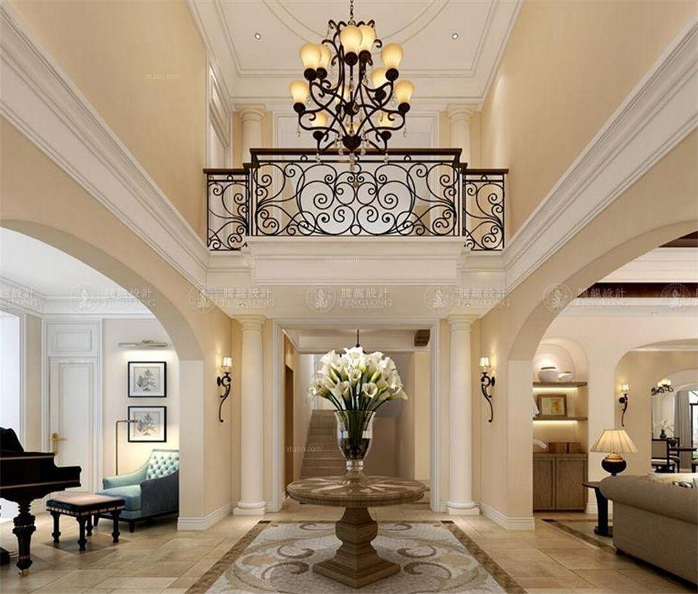 独栋别墅美式风格玄关图片