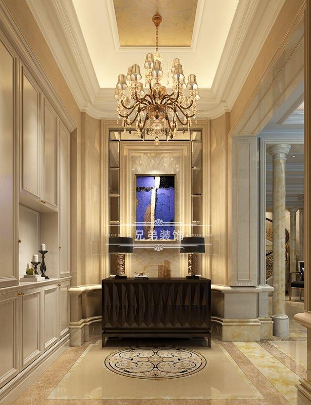 别墅欧式风格玄关隐形门