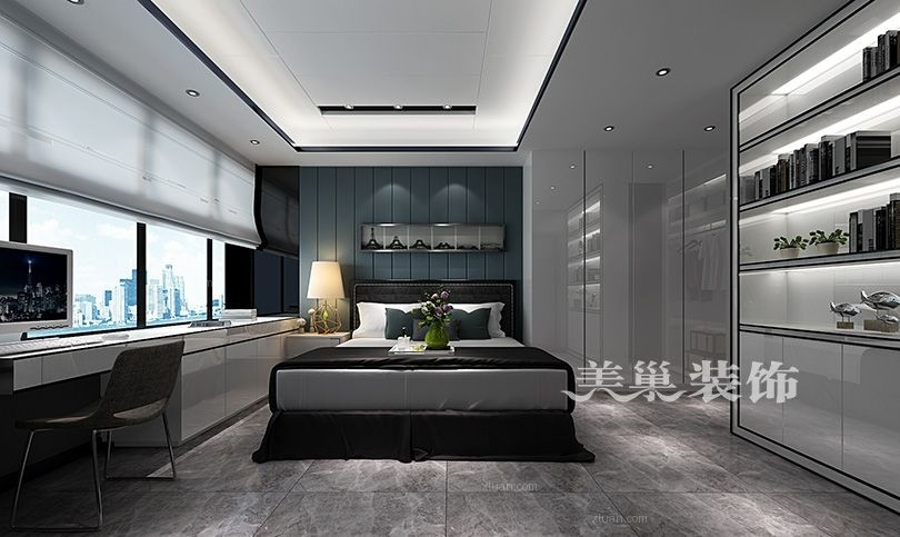 郑州美巢美景美地麟洲59平一室改造阳台榻榻米地台装修效果图