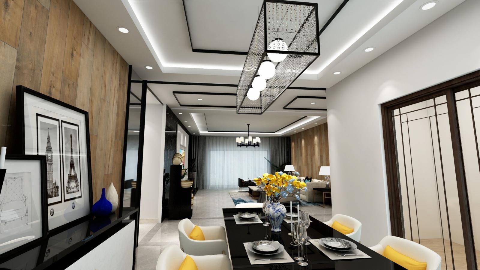 唐山华理家园180㎡中式风格案例分享
