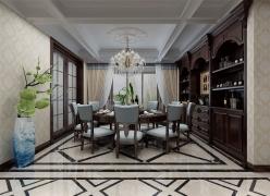 保利花园四室两厅154平美式装修效果图