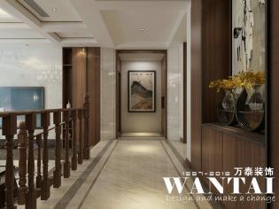 泰安装饰公司 泰安亚特尔·山和院子 300m²别墅 新中式