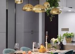 乌鲁木齐城市人家113平米时尚ins风三居高颜值一体化客餐厅