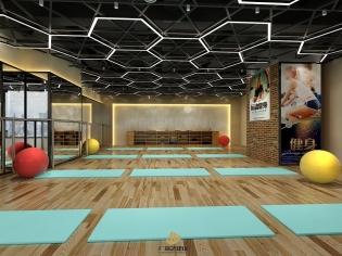 深圳健身室装修设计案例-普力菲健身会所-广深艺建设