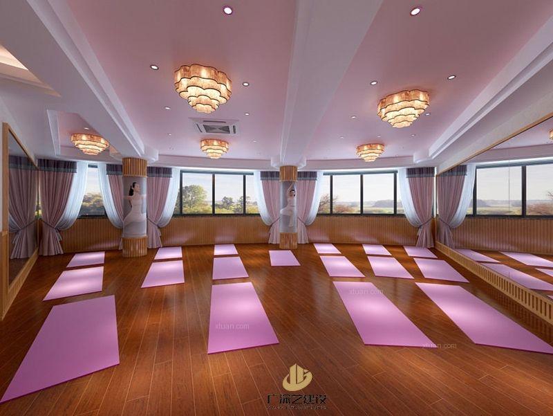 深圳瑜伽装修设计案例-瑜伽会馆-广深艺建设