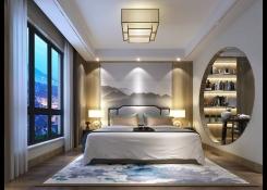 现代简约卧室效果图