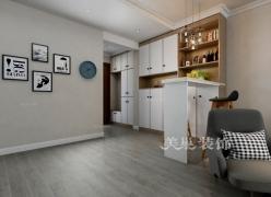 美巢郑州未来华庭139平三室两厅装修北欧风收纳设计装修效果图