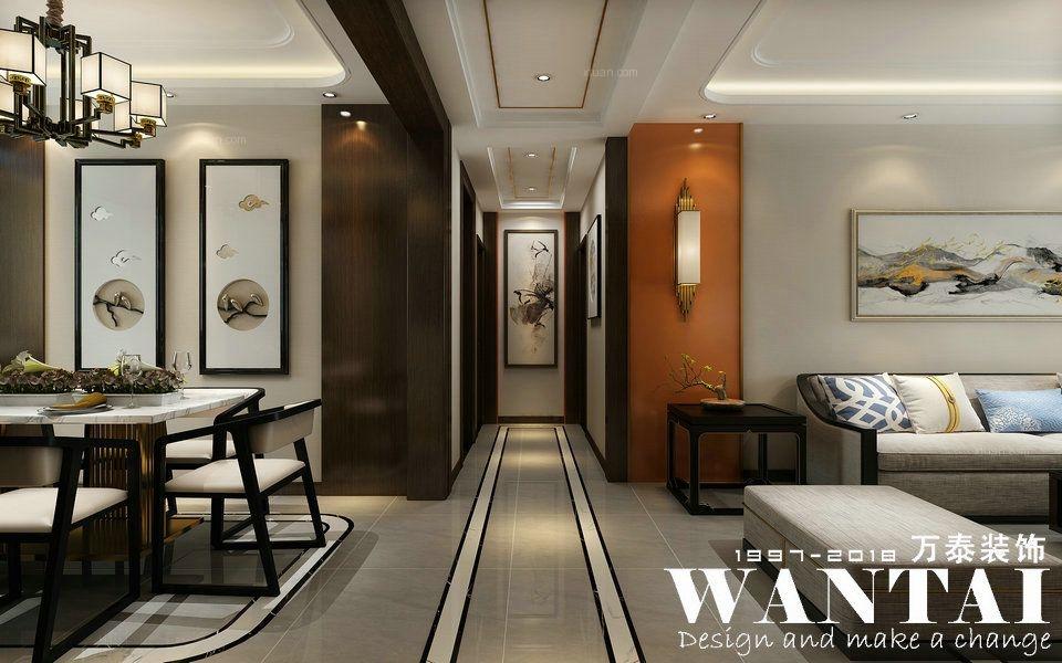 泰安万泰装饰|华新山水居126m²现代新中式混搭-设计师