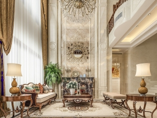 聚丰福邸联排别墅简欧风格设计
