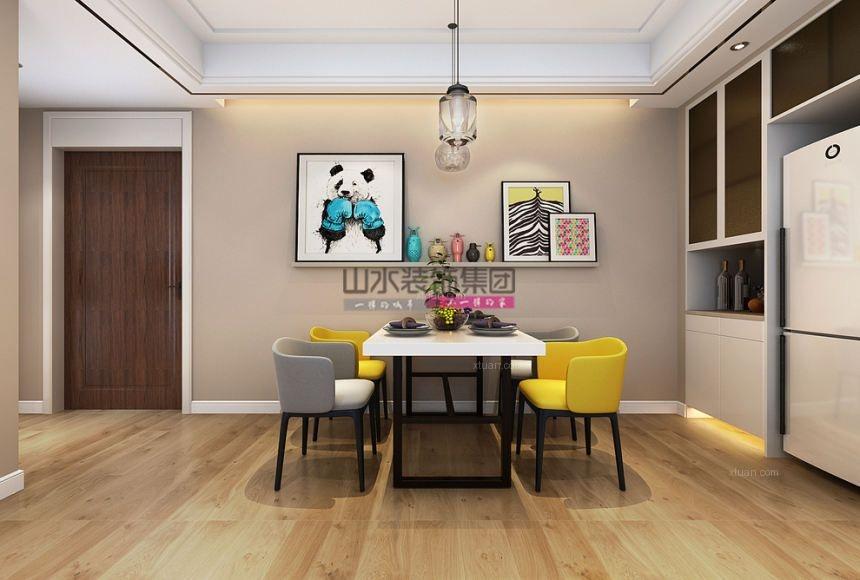 【山水空間裝飾】華邦新華110平米現代裝修家居家裝