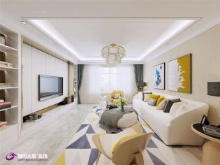 名辉豪庭装修现代风格三居室