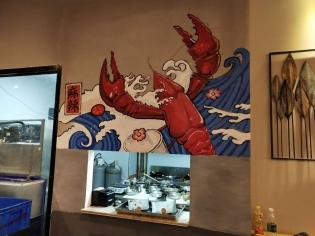 威海餐厅彩绘案例1