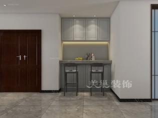 美巢郑州建业海马九如府中式风格设计260平复式装修效果图