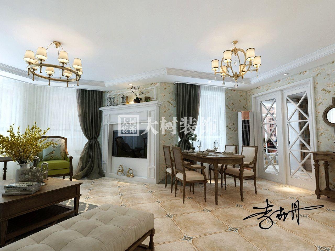 祥阁花园三室一厅两卫--轻松、舒适,悠享美式田园生活