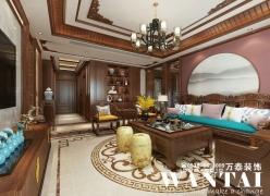 泰安万泰装饰|泰山御园260m²复式中式风格装修—张继龙