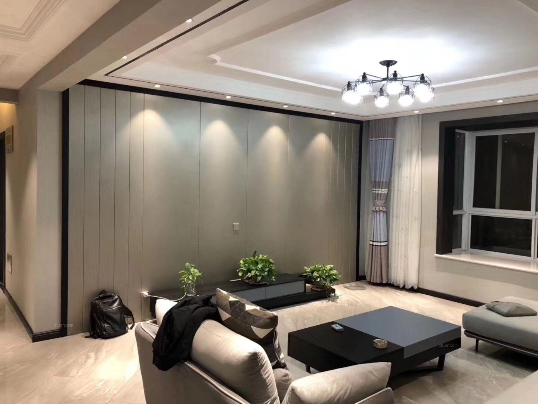 咸阳市政小区150平米现代风格完工实景