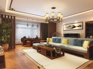 医大家属楼-大气蓬勃的中式风格-哈尔滨鸣雀装饰