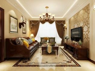 辰能南区-古典舒适美式风格-哈尔滨鸣雀装饰