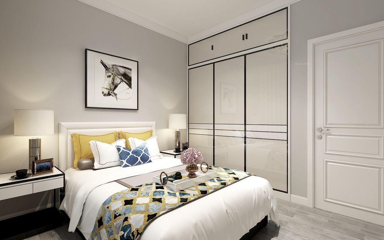 两居室北欧风格卧室图片