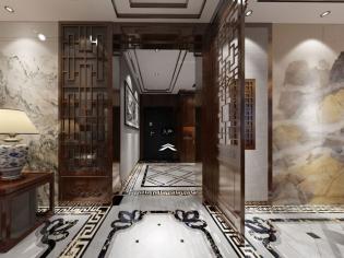襄阳九街十八巷中式装修设计效果图