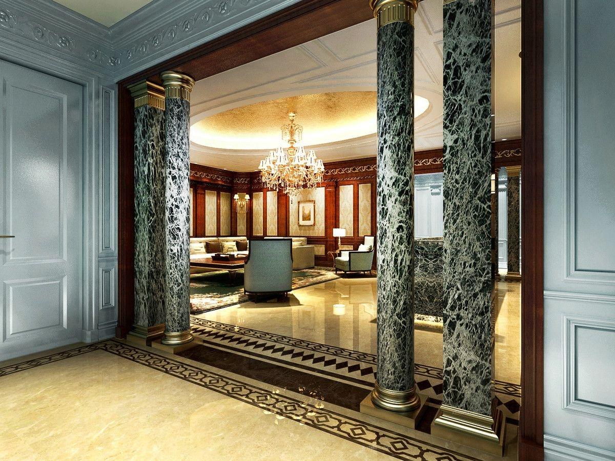 大豪山林别墅装修巴洛克风格设计
