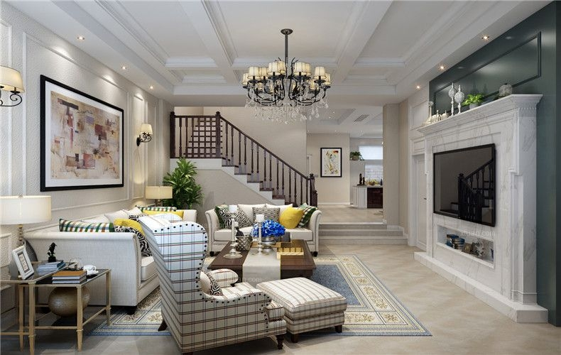 信达郡庭别墅装修欧美风格设计