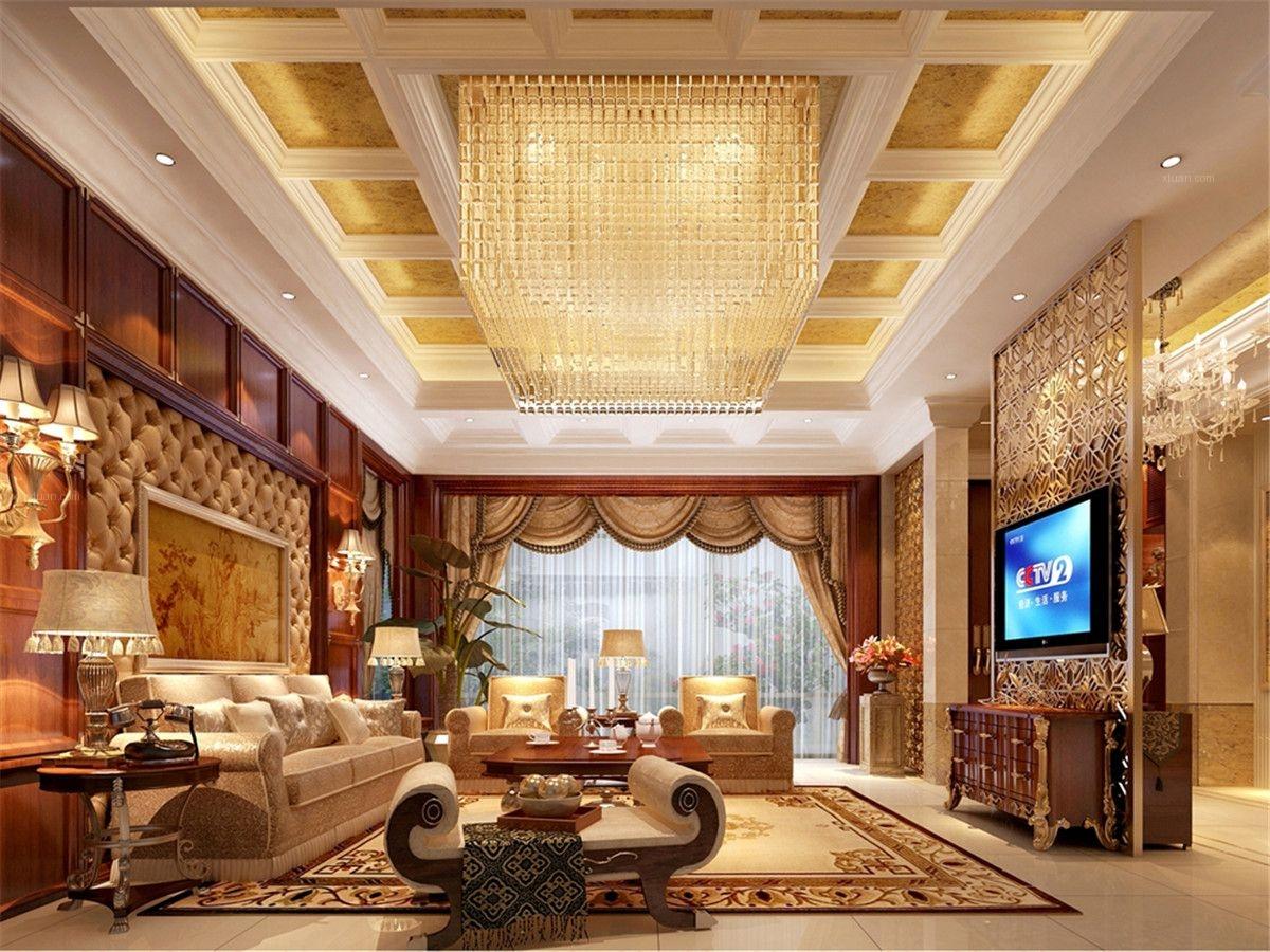 上海滩花园洋房别墅装修美式古典