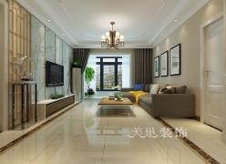 郑州美巢九龙城128平三室两厅现代风格装修效果图