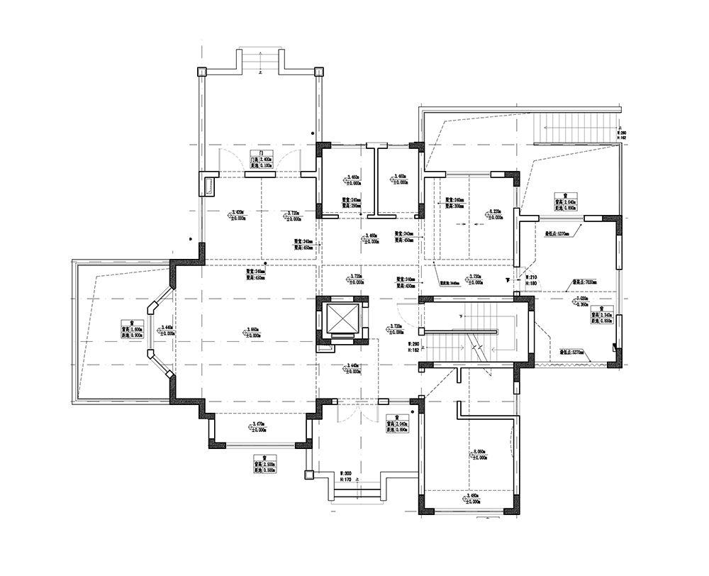 中星红庐800平独栋别墅装修新中式设计
