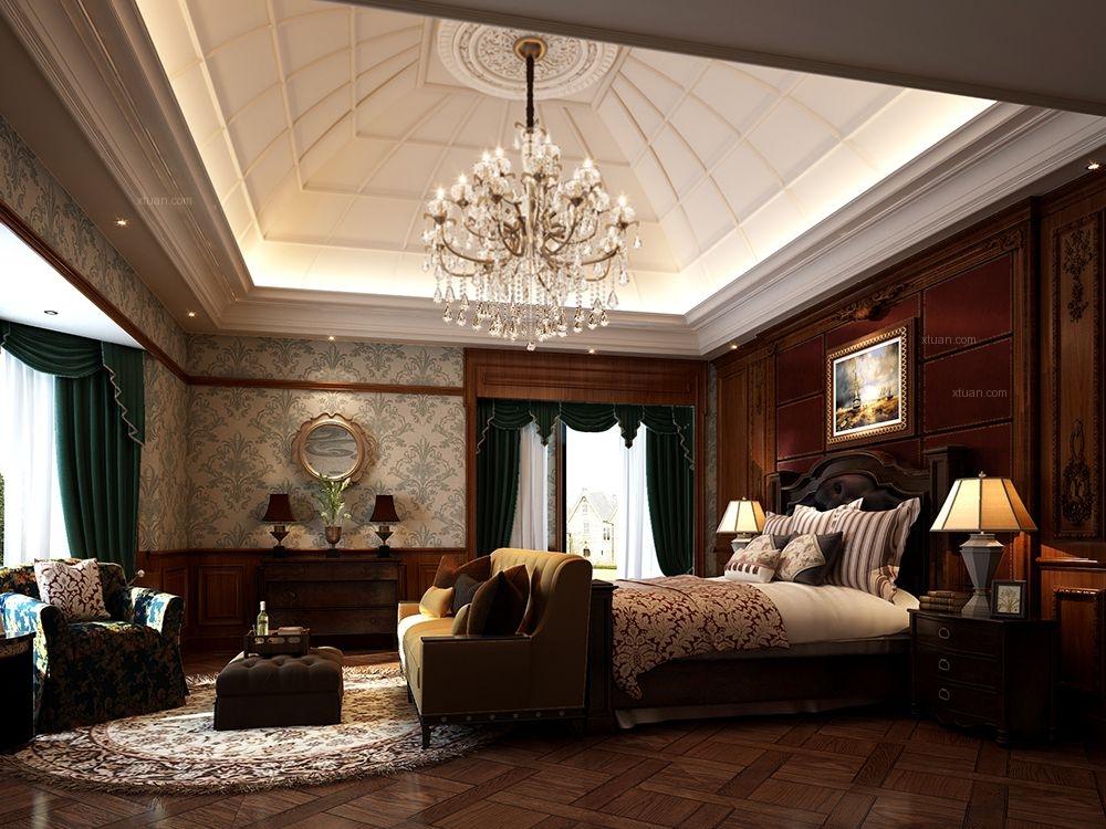中星红庐500平别墅装修美式古典