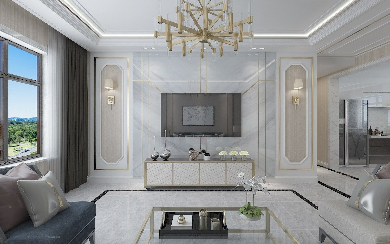 中海文昌公馆-白色系纯洁的港式风格-哈尔滨鸣雀装饰