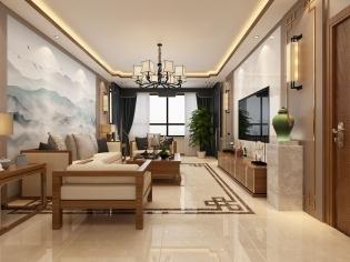 烟墨之美-新中式风格案例-哈尔滨鸣雀装饰