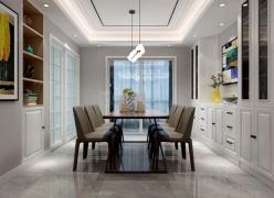 景寓学府三居室130㎡现代简约风格