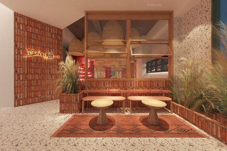 艺科设计|小鲜料理,暖暖的餐厅设计
