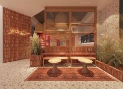 艺科设计 小鲜料理,暖暖的餐厅设计