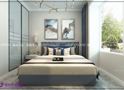 绿地新里城75平两室两厅现代北欧风格装修