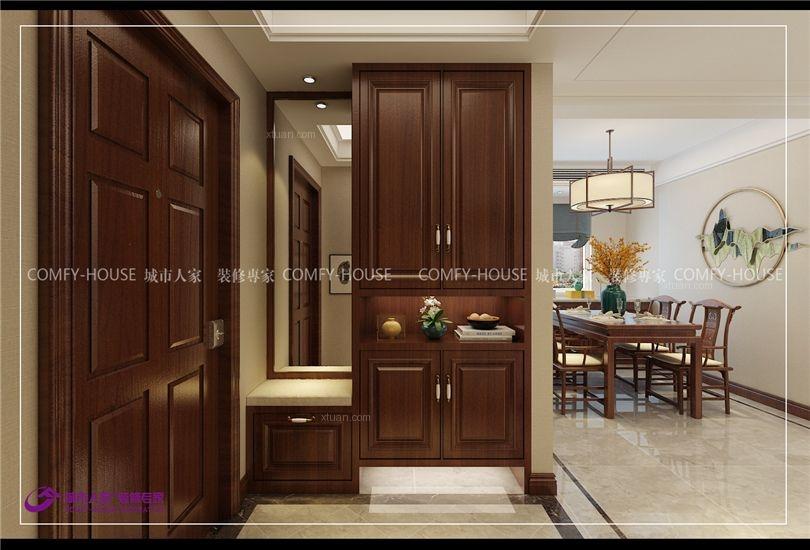 华山珑城140平三室两厅新中式风格装修