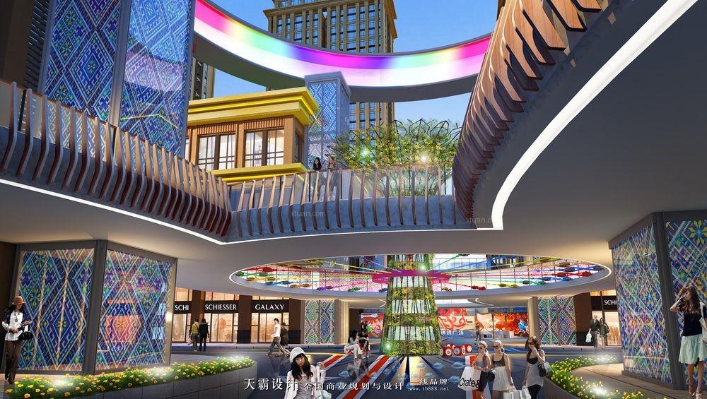 茂名万国汇广场等时尚炫酷购物中心装修设计效果图