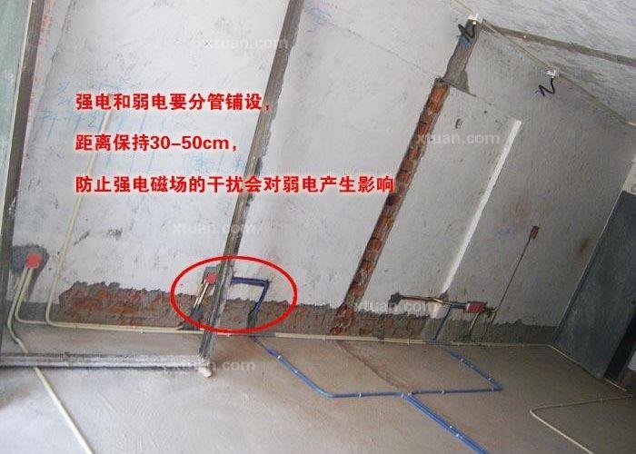 强电和弱电要分管铺设