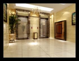 涵江华友第一城电梯厅油漆阶段装修效果图