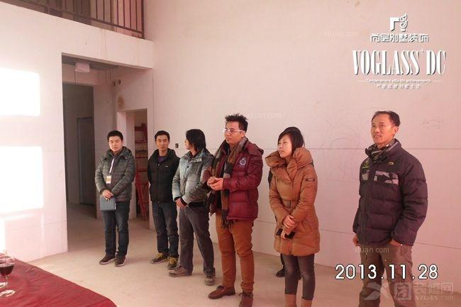 北京周边别墅潮白河孔雀城尚层装饰开工典礼