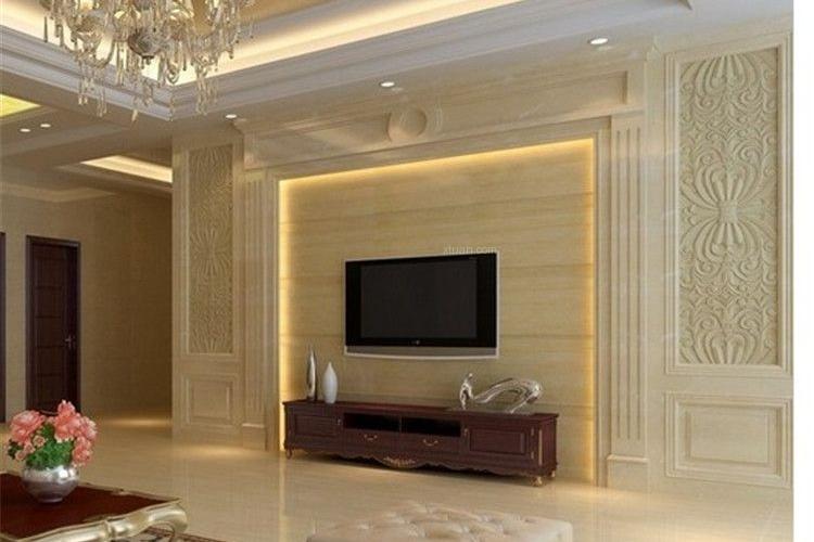 电视背景墙常用的材料主要有玻璃,石材,木材,壁纸,墙漆,竹材,石膏板