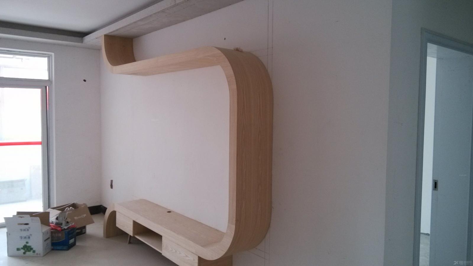 木工施工片装修效果图-x团装修网
