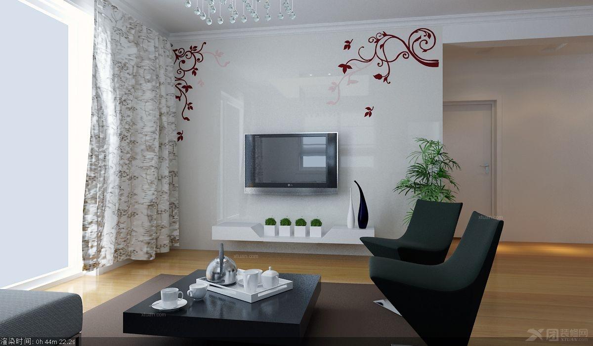 天俊华府-三居室-136平米-客厅装修效果图 中式别墅客厅装修效果图