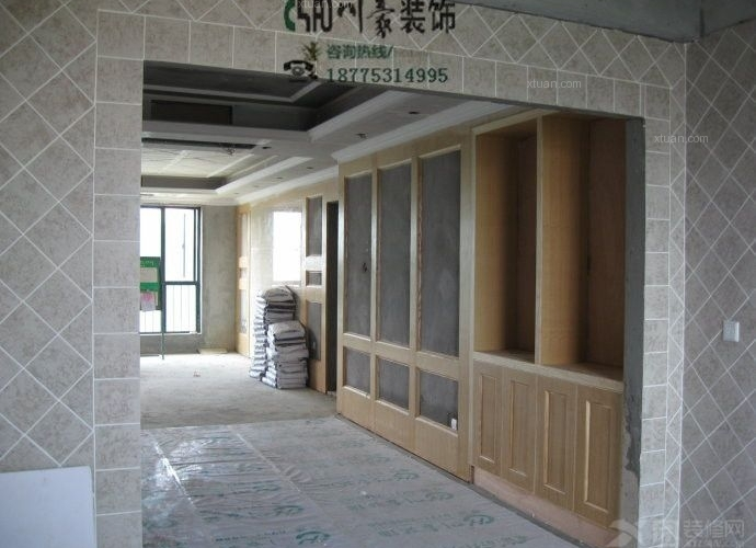 川豪装饰施工木工工艺展示_装修样板房
