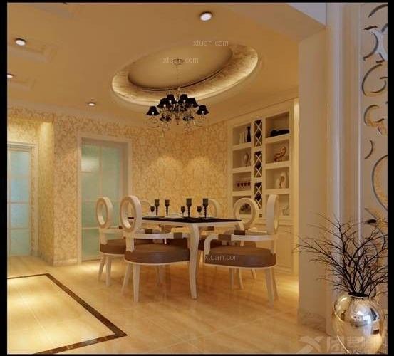 华都b区127平方欧式风格中户型12.6万元_装修样板房