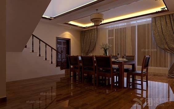 西亚山庄独栋别墅340平方米中式风格别墅造价29.27万元