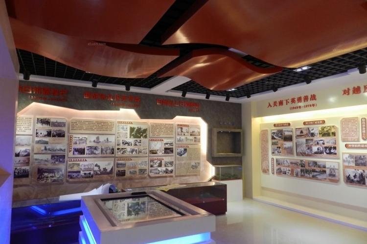 中国人民解放军某部队荣誉室施工现场 高清图片