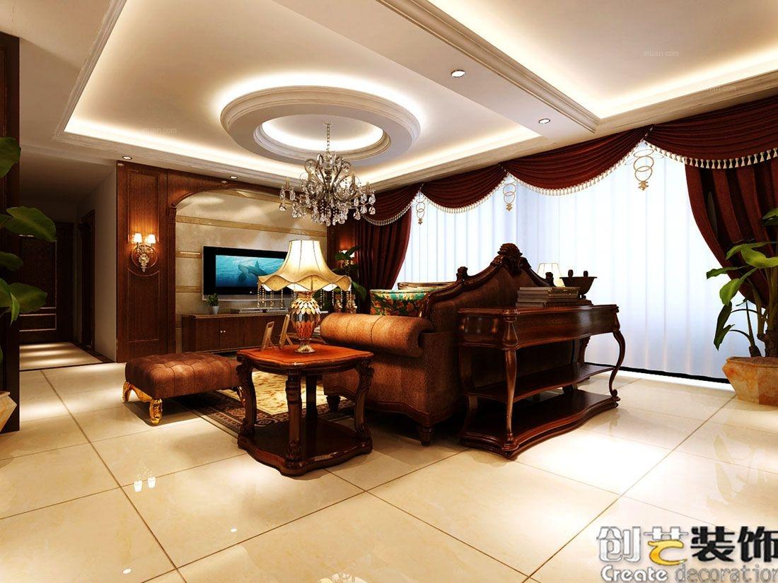 创艺-升禾绿城世界-185平米-美式风格
