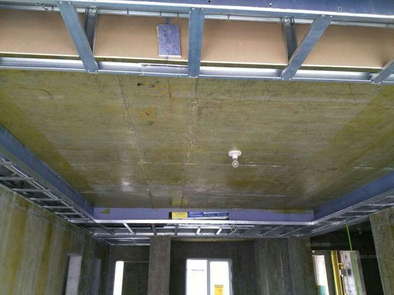 三居室水电路+防水+吊顶施工现场